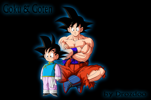 Goku  and Goten by drozdoo