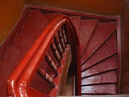 Staircase in Reds by worseevil