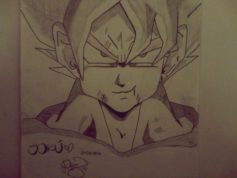 Goku Pencil Drawing by bekyloves