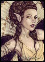 ACEO -- The Golden Queen by ElvenstarArt