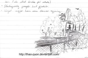 School Doodles : Window View 2 by Thao-Pyon