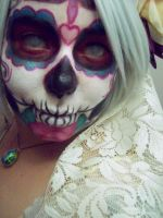 My first Day of the Dead makeup. by Kabuki-Bunny