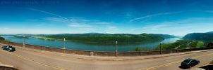 columbia river gorge pano by bimjo
