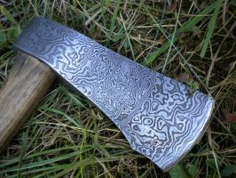 Damascus axe by hellize
