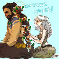 got/asoiaf: a dothraki christmas by Suu-mon