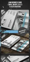 Law Business Card by VadimSoloviev