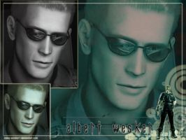 Albert Wesker wall-paper by Claire-Wesker1