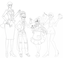 AU Collab - WIP 2 by Honeysan