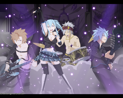 Fairy Tail OC (Rock Team) by CursedIceDragon