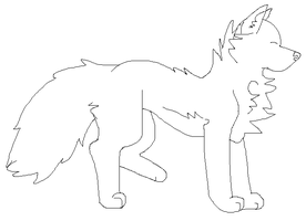 Free Wolf Lineart by Schuffles