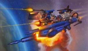 Legions of Power Flying Friendly by AlanGutierrezArt