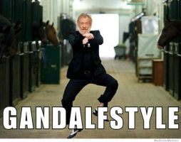 Oppa Gandalf style! by VanuInfiltrator