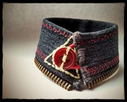 Deathly Hallows Cuff by Lovely-Whimsy