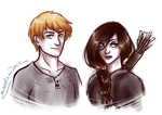 Katniss and Peeta by m-angela