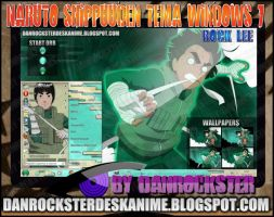 Rock Lee Theme Windows 7 by Danrockster