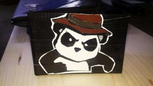 Peter Panda Duct tape wallet by Fairygirl1031
