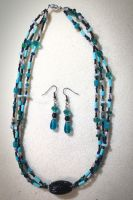 Michelle's Aqua Blue Set by OohShinyJewelry