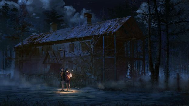 Scary house by arsenixc