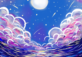 Colorfull Night Doodle by 12L4e172s3s
