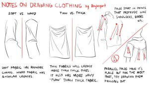 Drawing clothes - thoughts and ideas by boybogart