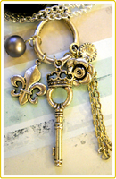 Royal Key Necklace by LypticDesigns