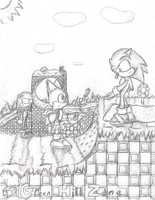 Sonic In Green Hill Zone by ClassicTeam