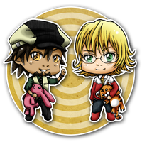 Chibi Kotetsu and Barnaby by Sefi