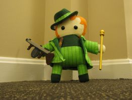 Leprechaun Gangster Plush by suzannahashley