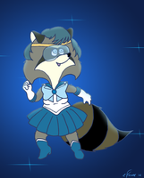 Melissa Raccoon as Sailor Mercury by KrDoz