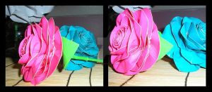 Duct Tape Roses PinknBlue by DuckTapeBandit