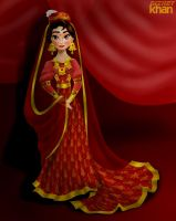 Princess Maariyah in Bride in colour version by ArsalanKhanArtist