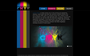 My CMYK Test Web Design Sample by CrazyGleam