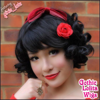 Curly Bob - Black by GothicLolitaWigs