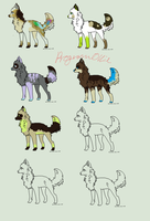 (OPEN) Neon / Canine Adopts 7 by ProgramOllie