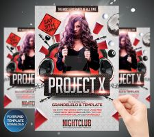 Project X Party Flayer Template by Grandelelo