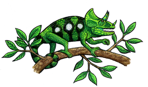 Leon The Chameleon by qwerty1198
