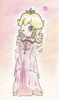 angelic Princess Peach by beckyboc