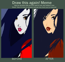 Meme: Elisa Maza before and after by NiveousLamia