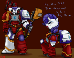Rarity and Techmarine by Bloodkiaser923