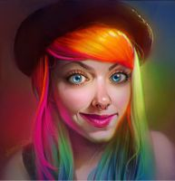 Rainbow Hair! by JenPenJen