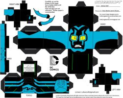 DCNU8: Blue Beetle Cubee by TheFlyingDachshund