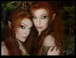 Elven sisters by TatharielCreations