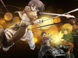 Attack On Titans Wallpaper by LizzyWolfFire6