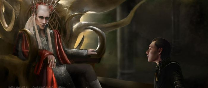 Audience with the king- Thranduil Loki crossover by duyeqing