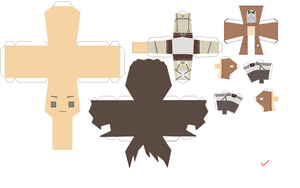 Eren Jaeger Papercraft by Zenny-Again
