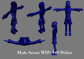 Male Scout: More Practice by videodragon