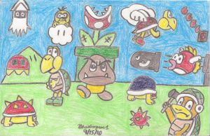 SMB Enemies Drawing by MarioSimpson1