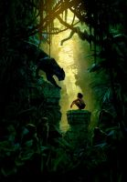 The Jungle Book [Hi-Res Textless Poster] by PhetVanBurton