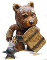 "The Bearbarian 18"" Qee Bear by kgosselin"