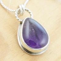 Amethyst PEACE Pendant by metalsmitten